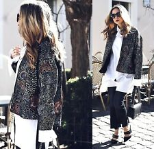 ZARA EMBROIDERED AND SEQUINNED JACKET SIZE S-M 8-10 UK 36-38 EU 4-6 US