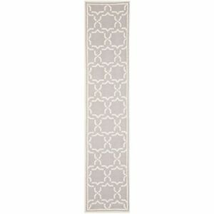 Safavieh Flat weave Wool Grey/ Ivory 2' 6 x 10' Runner