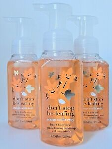 3 BATH & BODY WORKS DON'T STOP BE-LEAFING GENTLE FOAMING HAND SOAP 8.75oz NEW!
