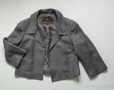 Women's Fenn Wright Manson silk/linen  jacket blazer grey size UK 12  mint cond