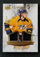 2015-16 UD EXQUISITE COLLECTION KEVIN FIALA ROOKIE PATCH #ED 22/149