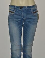 New Women's sz 27 GUESS Low Rise Biker Skinny Jeans - Light Safari Wash