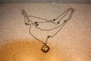 VSA Virgins Saints & Angels San Benito Cross Necklace Pearls Crystals w Case