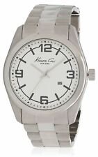 Kenneth Cole Men's Steel Bracelet & Case Quartz White Dial Analog Watch KC3913