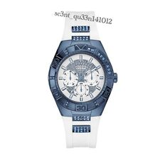 AUTHENTIC GUESS LADIES' LUNA STONE SET WATCH W0653L2 Brand New RRP: $449