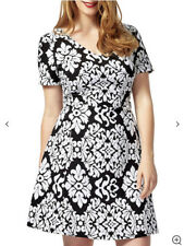 Studio 8 phase eight Anna black and white jacquard dress size 16 bnwt