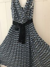 Mexx Original Women Ladies Knee Length Blue Brown And Black Dress Size 14