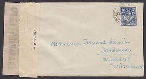 Northern Rhodesia 1940 Surface Cover to Switzerland KGVI Mongu-Lealui datestamp