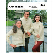 "Aran knitting pattern 446 66-112 cms/ 26""-44"""