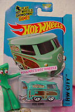 Case A 2015 Hot Wheels KOOL KOMBI #73✿ Green VW Bus;white 5sp;Surf Shop∞Patrol