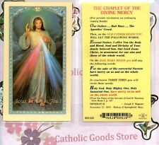 Divine Mercy  - Chaplet of Divine Mercy Prayer - Laminated Holy Card