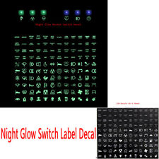 Night Glow Rocker Switch Label Decal Circuit Panel Sticker Car Boat Marine Green
