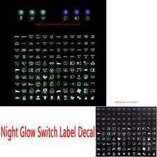 Night Glow Rocker Switch Label Decal Circuit Panel Sticker Car Boat Marine Green