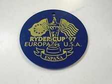 Ryder Cup Golf Bag Tag 1997 Euopa vs USA Espana Alaha Marbella