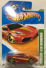 FERRARI 430 SCUDERIA-HOT WHEELS 2012 -TREASURE HUNT-RARE REGULAR