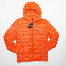 Emporio Armani Hooded Winter Down Jacket Orange