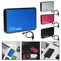 2.5'' USB 3.0/2.0 HDD SSD External Enclosure Case Hard Drive Dock Station Holder