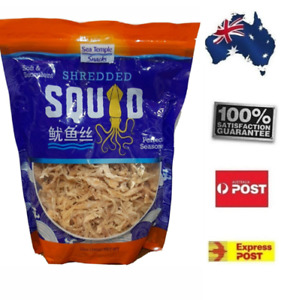 Sea Temple Snacks Shredded Dried Squid Soft & Succulent FREE POST Home Office