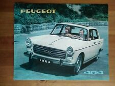 catalogue brochure PEUGEOT 404 berline 1964
