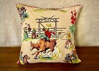 Jesus Helguera cowboy cowgirl Mexican patio seat cushion covers