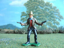 Vintage Marx Wild West cowboy firing two pistols 1:35 painted