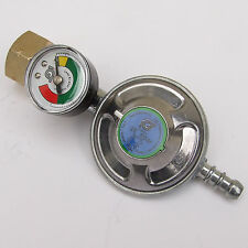 GAS BUTANE SCREW ON REGULATOR & GAUGE 28 mbar for CALOR 4.5kg VW CAMPER, BOAT