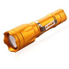 10000LM 5Mode Adjustable Focus CREE XML T6 LED 18650 Police Flashlight Torch
