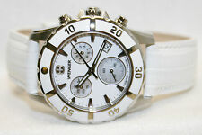 Swiss Army Wenger Sport Chrono Watch Stainless  White Mother of Pearl Dial 34mm