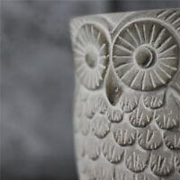 Silicone Flowerpot Mold 3D Night Owl Cement Concret Planter Garden Pot DIY Craft