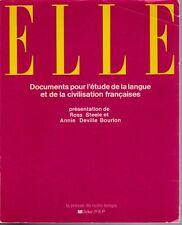 Elle French Language Source Documents Pour l'etude civilisation francaises 1980