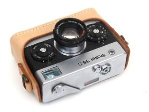 Leather Rollei 35 Tan with Tan Stitching Half Case - BRAND NEW