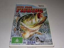 Sega Bass Fishing Nintendo Wii PAL Preloved *Complete* Wii U Compatible