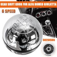 6 Speed Gear Stick Shift Knob Lever For Alfa Romeo Giulietta 50294565 Chrome