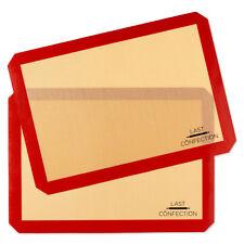 "2 Non-Stick Silicone Baking Mats Tray Pan Liners - Half Sheet 11-5/8"" - 16-1/2"""