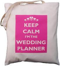 Keep Calm I'm la wedding planner-Cotone Naturale Borsa a tracolla-Rosa Design