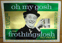 OLDE FROTHINGSLOSH ALE, metallic Beer Label, OH MY GOSH Pittsburgh, PENNSYLVANIA