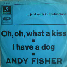 "7"" 1966 Andy Fisher OH What A Kiss/in RARE BLUE Sleeve \"