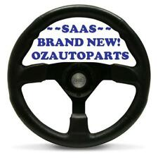 GENUINE SAAS QUALITY SPORTS STEERING WHEEL BLACK OCTANE