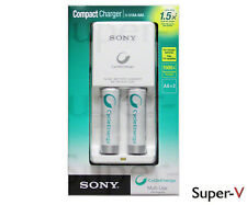 Sony CycleEnergy Charger AA/AAA Ni-MH with 2 Batteries 1000 mAh (BCG-34HW2RN)