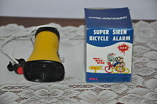 TRULY NEW OLD STOCK VINTAGE 1970'S SUPER SIREN BICYCLE ALARM 3 SOUNDS TESTED!