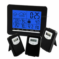 Wireless Weather Station 3Sensor Digital Temperature Humidity In/Outdoor Generic