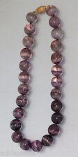 Collier aus 25 Fluoritkugeln (Durchmesser: 15 mm), Halskette, Fluorit Kette