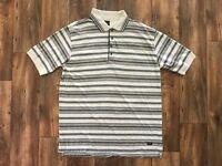 Dockers Men Polo Shirt Stripe Short Sleeve Polo T shirt Size XL