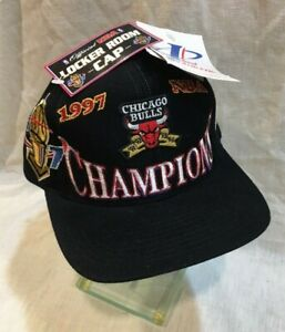 VINTAGE CHICAGO BULLS 1997 NBA CHAMPIONS SNAP BACK HAT CAP New with tags