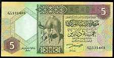 LIBYA   5  DINARS ND (1991)  Serie 4  P 60b about Uncirculated Banknotes