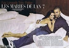 COUPURE DE PRESSE CLIPPING 2007 EVA LONGORIA & TONY PARKER (6 pages)