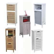 Evideco Free Standing Floor Cabinet 1 door with Shelves Bath Storage Linen Tower