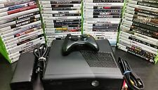 Microsoft Xbox 360 S Slim 250GB Console system with games Tested
