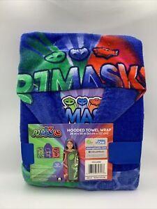 PJ Masks Kids Cotton Bath and Beach Hooded Towel Wrap - Blue - Brand New