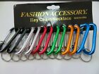"Lot 12 Carabiner Spring Belt Clip Snap Key Chain / 3"" / Aluminum / Free Shipping"